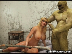 3d Sporty Girl Wrecked By An Orc!