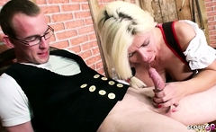 BAVARIAN BIG TITS MILF NADJA PAY INVOICE WITH SEX TO YOUNG