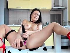 Pretty Good Brunette Camslut Uses Sex Toys