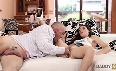 DADDY4K. Gentle dad of guy is better in bed with girl