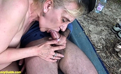 ugly old granny rough outdoor banged