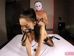 Ladyboy Slave Nutty Bareback Punishment