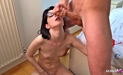 GERMAN SCOUT - College Teen Sara Talk to Deep Anal Casting