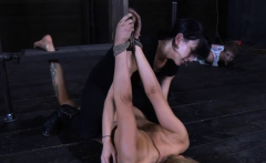 Beautiful babe's sweet nipps receives painful torturing