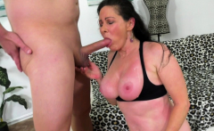 Mature Alexandra Silk Strips and Fucks