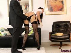 Milf Nurse Enjoys Foreplay With Older Guy