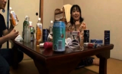 Japanese hairy cunt toying