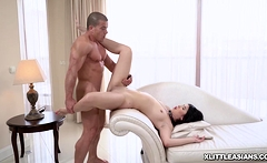 Lady Dee crawls over the stud and suck his huge man meat