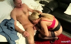 German Big Boobs MILF caught Friend Watching Porn and Help