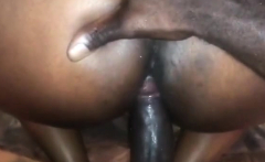 Black amateur couple fucking in reality home video