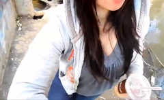 Asian Girl Sucking In Public Park
