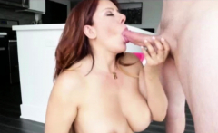 Busty MILF gives best handjob with blowjob