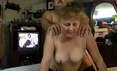 Granny being fucked doggystyle