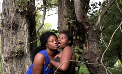 Amateur Black Girls Get Freaky In Public Park
