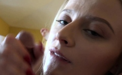Facial POV Cumshot Naughty Petite Blonde Paris White ATK
