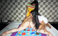 Dirty Massage Session From Two Thai Ladyboys