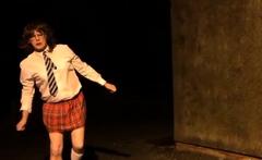 sissy schoolgirl cathy goes outside