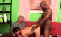 Busty granny enjoys fucking with a black dude