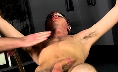 Eager gay guy cannot stay lengthy without bdsm style fucking