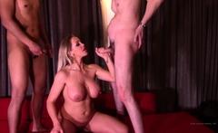 Cumshot on big boobs for slut tit fucking in hd