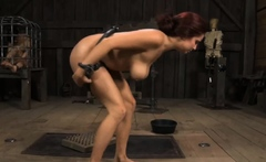 Wicked redhead bombshell with a thing for outdoor nudity