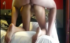 Amateur wife enjoy the cock of her husband