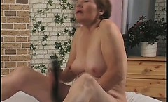 Sexy brunette MILF has great fun
