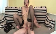 Horny blonde mature woman goes crazy